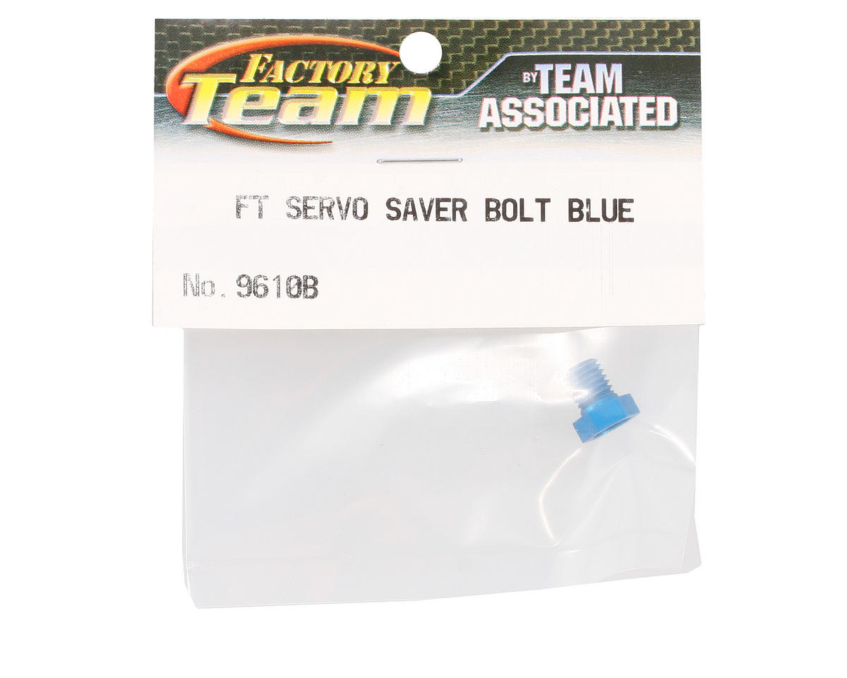 Team Associated Factory Team Servo Saver Bolt (Blue) (B4/T4)