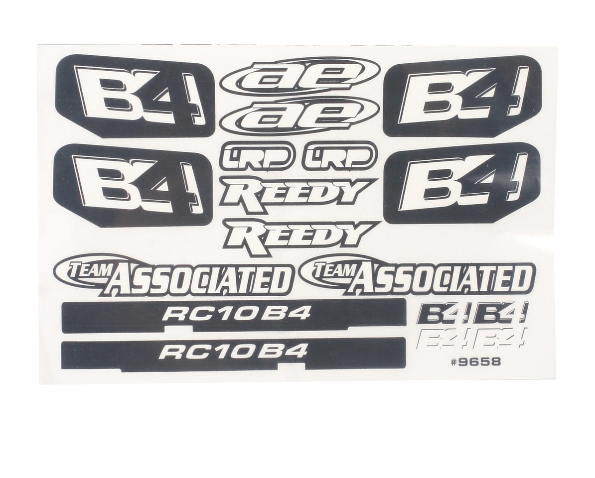 Team Associated B4 Decal Sheet