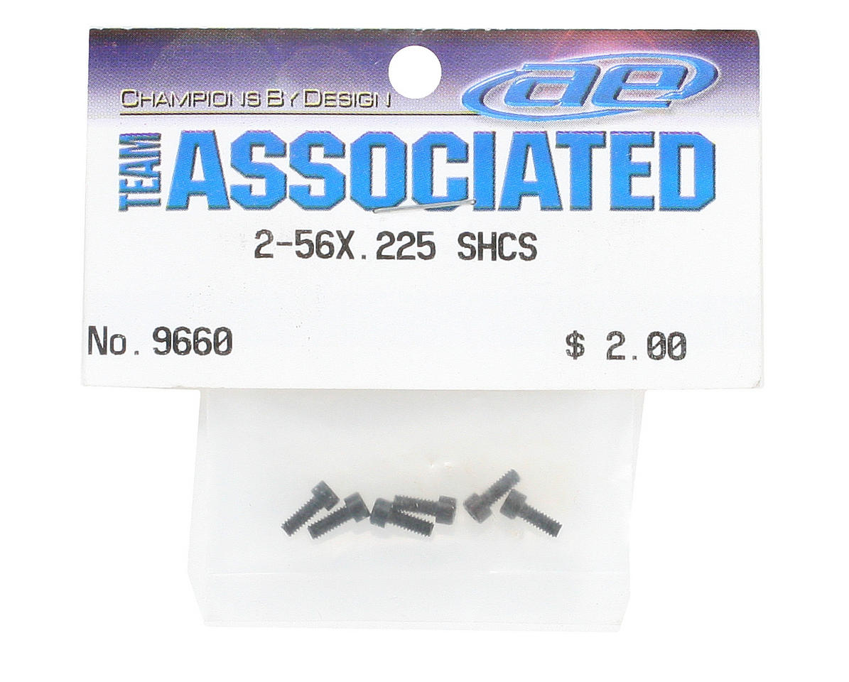 "Team Associated 2-56x0.225"" Socket Head Cap Screw (6)"