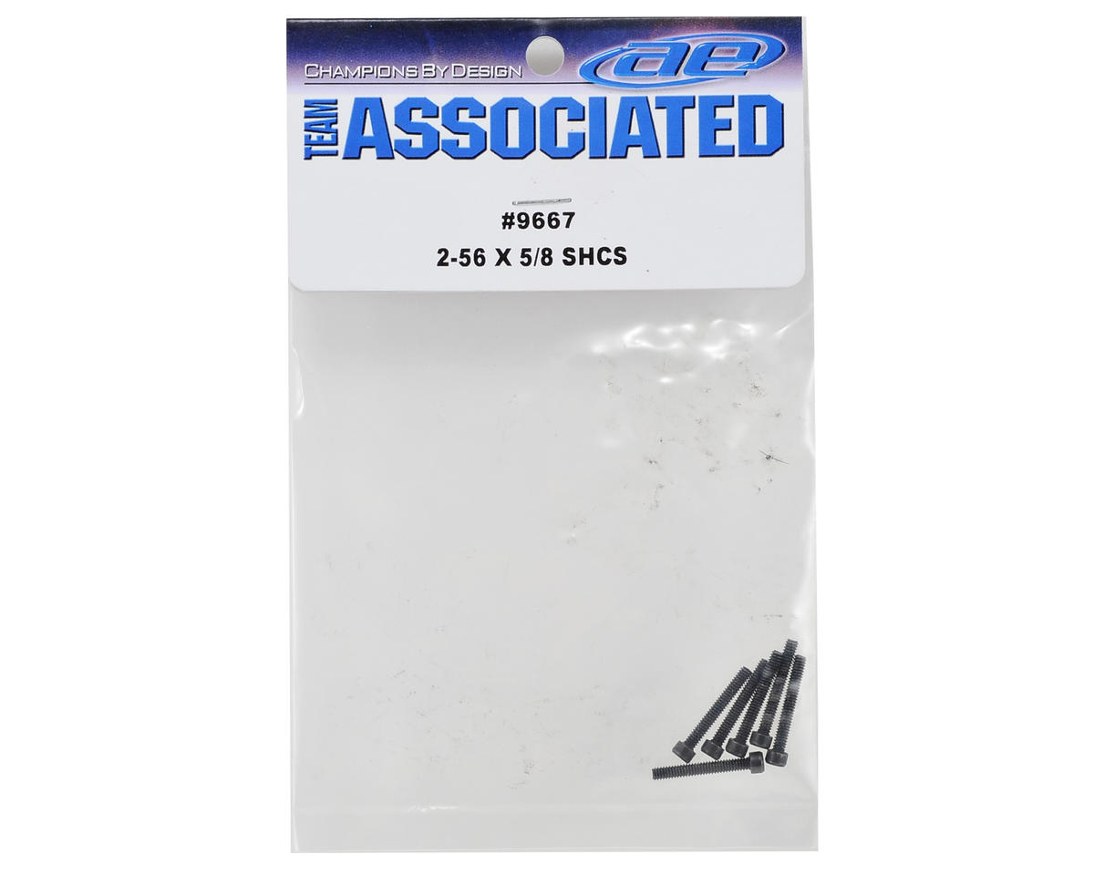 "Team Associated 2-56 x 5/8"" Cap Head Hex Screw (6)"