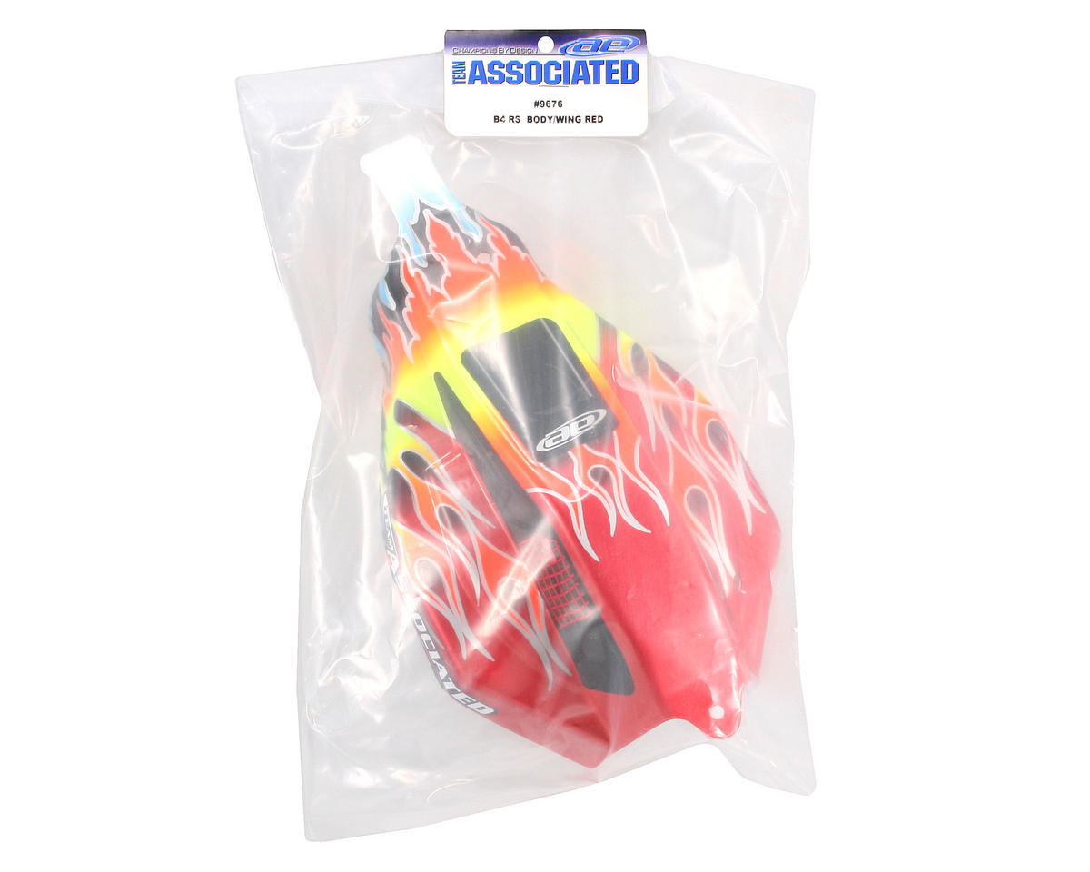 Team Associated Pre-Painted Flames Body (Red)