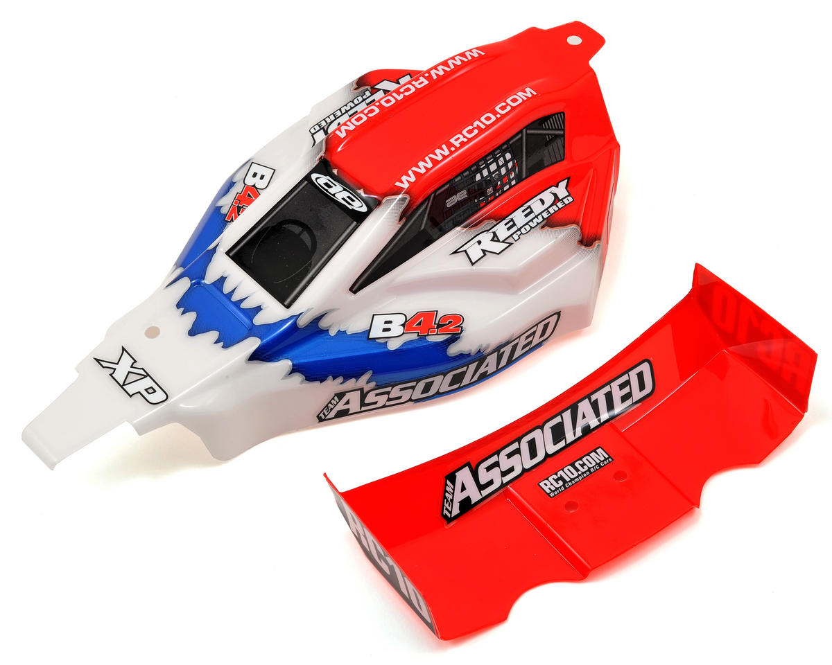 Team Associated B4.2 RTR Body & Wing Set (Red)