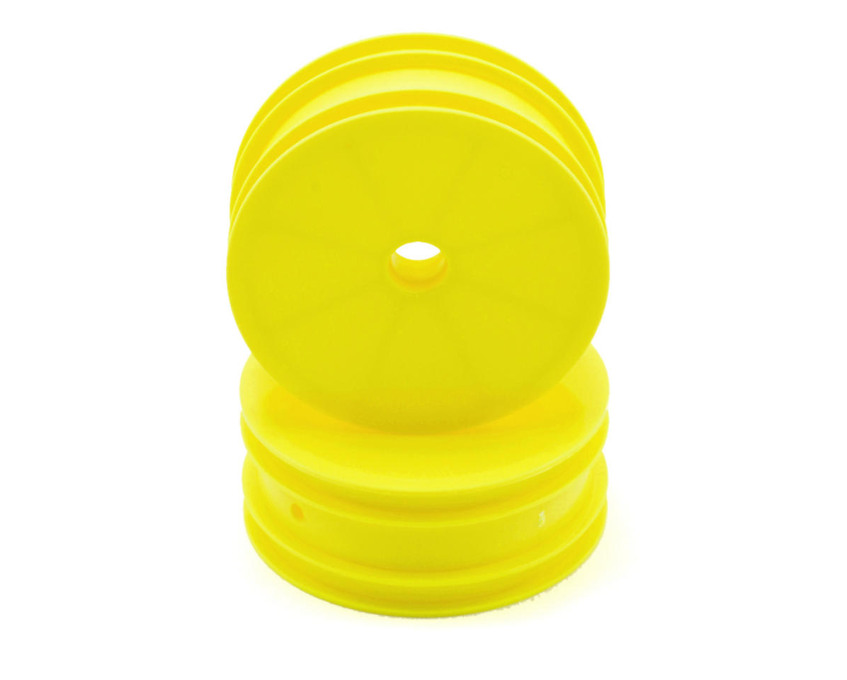 2.2 Front Buggy Wheels(2) (B4) (Yellow) (Pins) by Team Associated