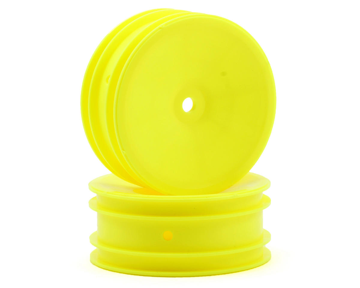 Team Associated RC10 B4.2 12mm Hex 2.2 Front Buggy Wheels (2) (B6) (Yellow)