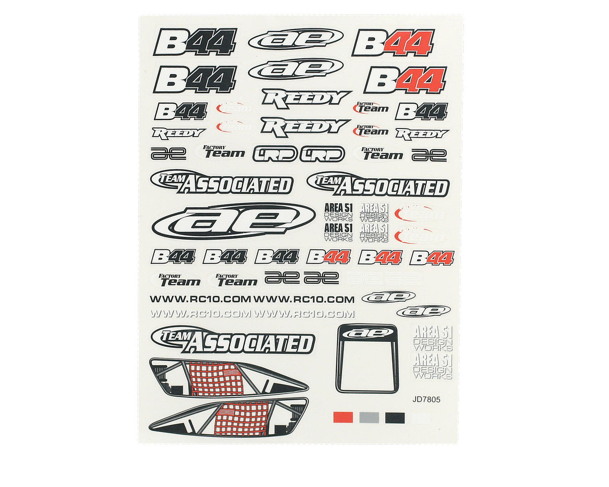 Team Associated Decal Sheet (B44)