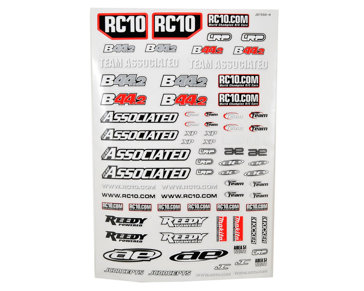 Team Associated B44.2 Decal Sheet