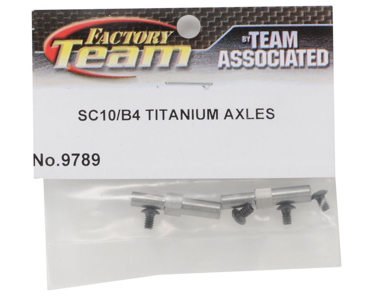 Team Associated Titanium Front Axle Set (2)