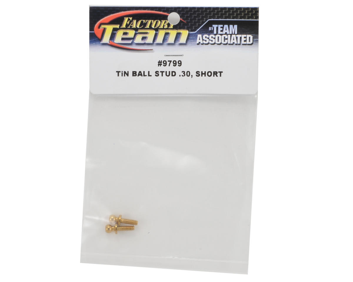 Team Associated 4-40 x .300 Short Ti-Nitride Ball Stud Set (2)