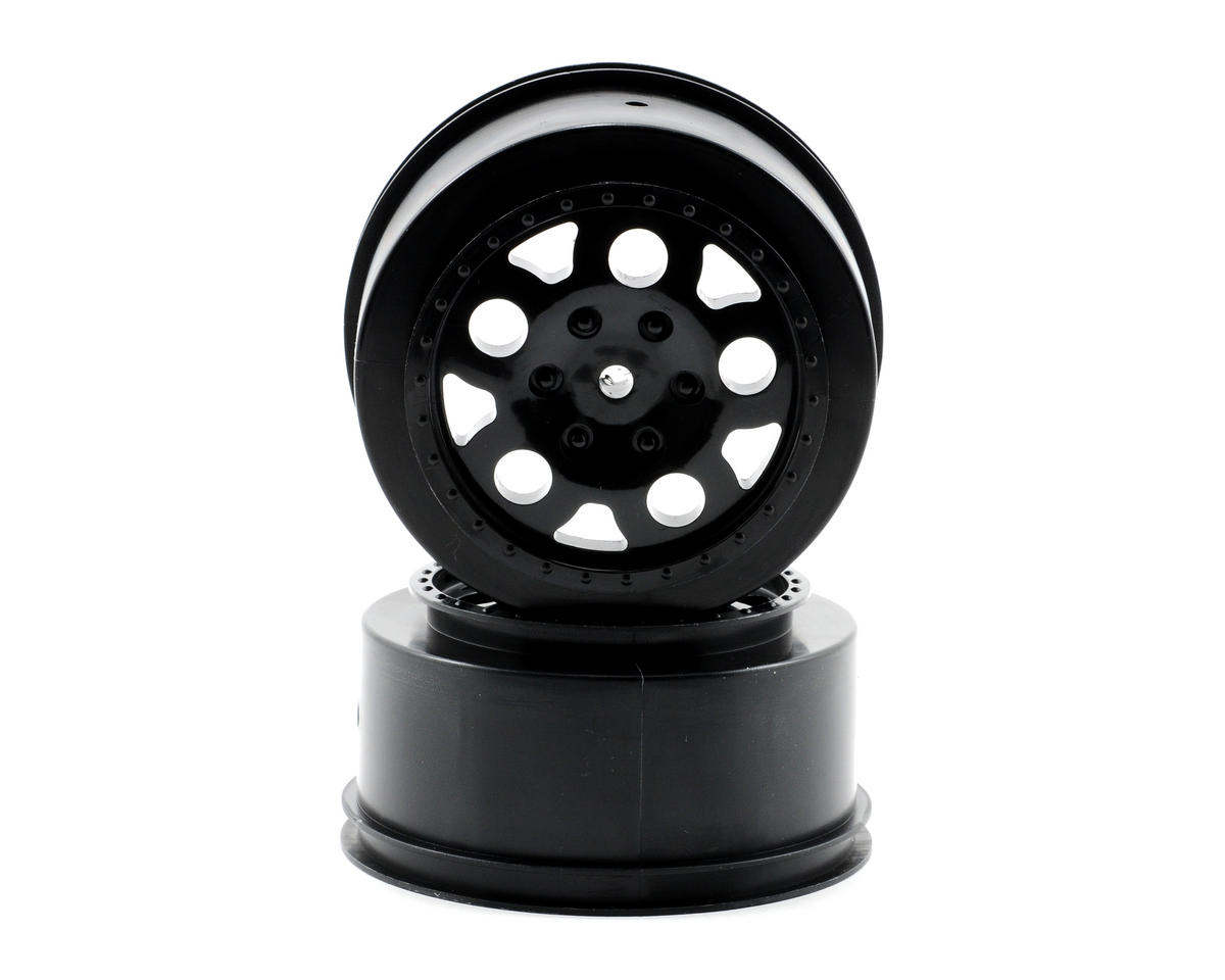 KMC Short Course Wheels (Black) (2) (SC10 Rear) (Not Hex) by Team Associated