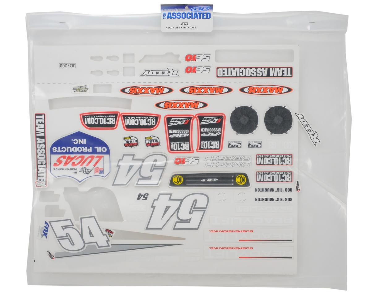 "Team Associated ""ReadyLift"" Decal Sheet (SC10)"
