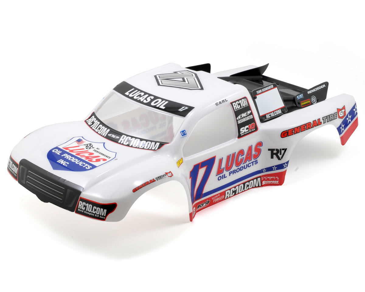 "Team Associated SC10 4x4 ""09 Lucas Oil"" Painted Body (SC10)"