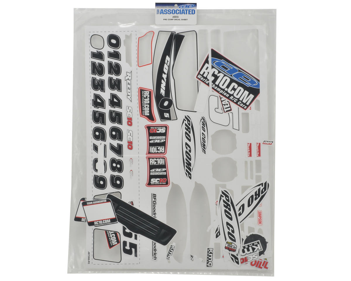 "Team Associated ""09 Pro Comp"" Decal Sheet (SC10)"