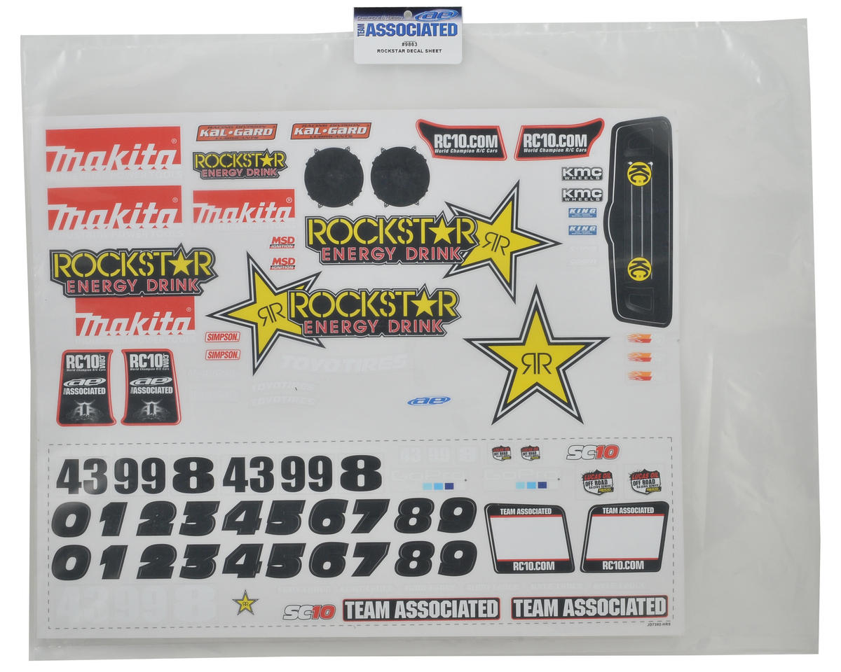 "Team Associated ""Rockstar Makita 09"" Decal Sheet (SC10)"