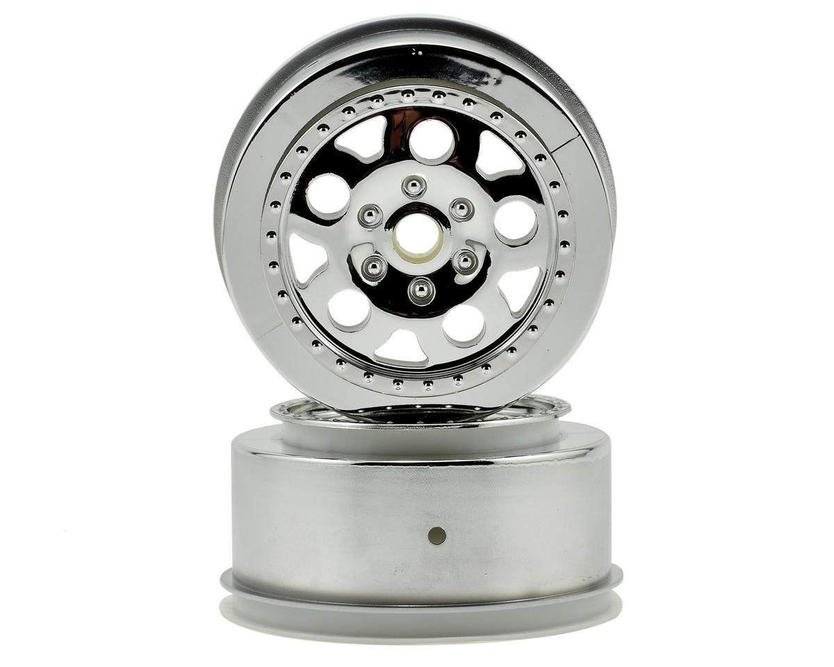 Team Associated KMC Short Course Wheels (Chrome) (2) (SC10 Front) (Not Hex)