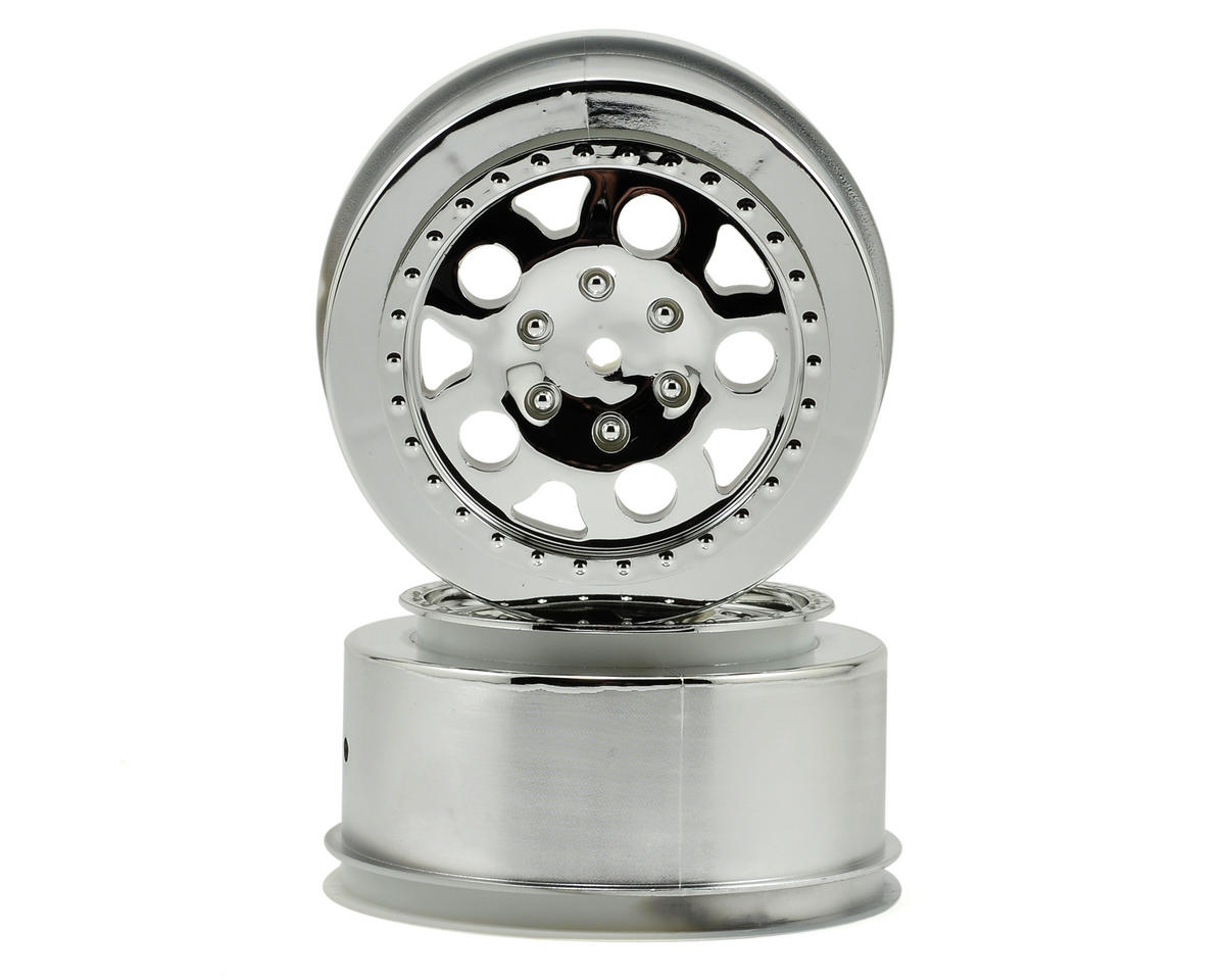 Team Associated KMC Short Course Wheels (Chrome) (2) (SC10 Rear)