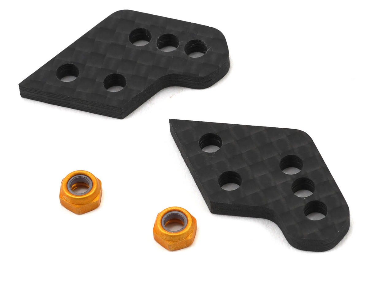 Team Associated Factory Team Aluminum Hub Carbon Fiber C Tower Set (2)