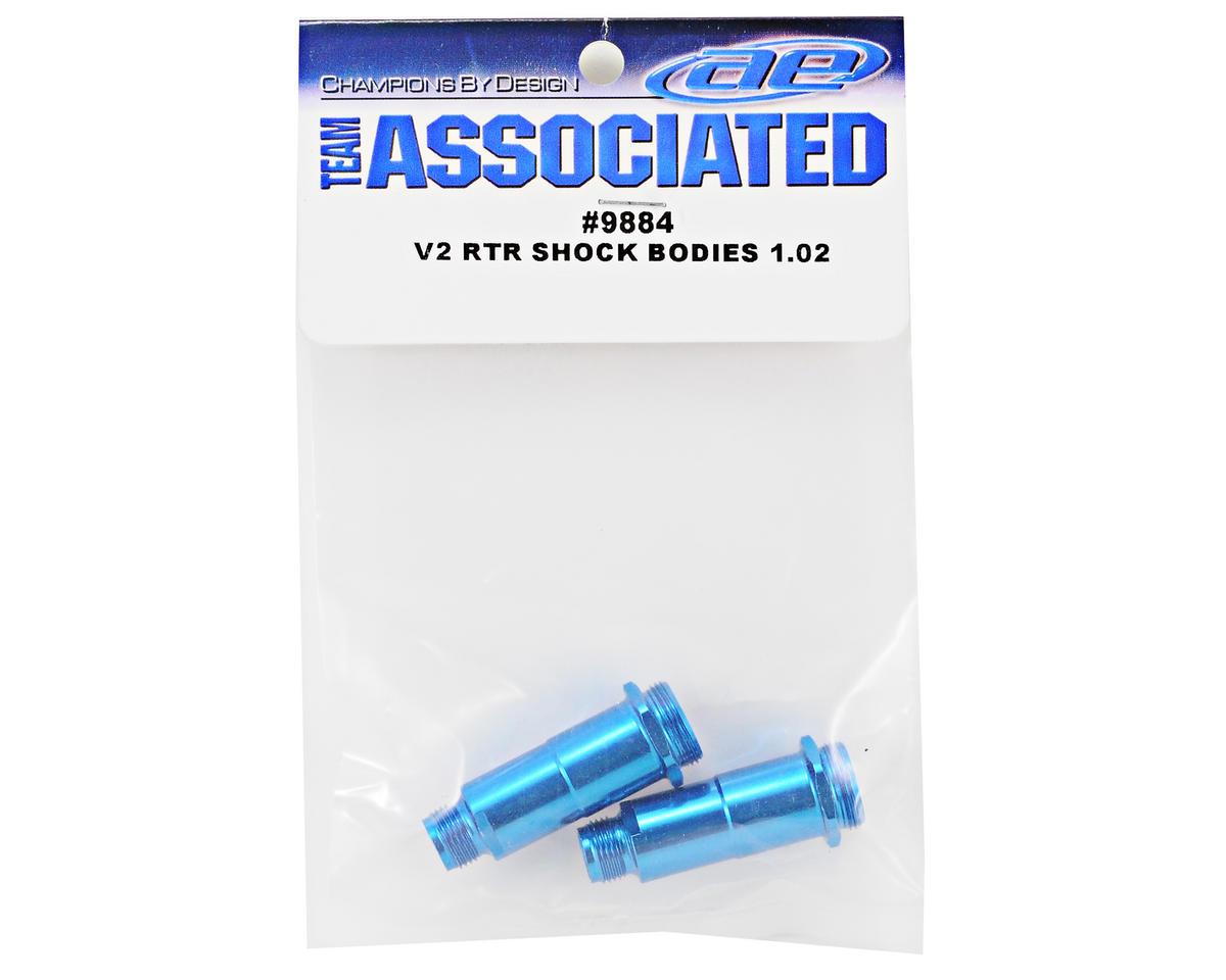 """Team Associated V2 RTR 1.02"""" Front Shock Body Set (Blue) (2)"""