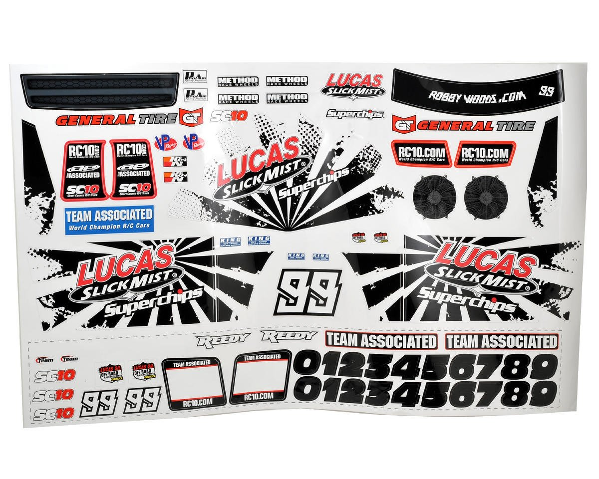 "Team Associated ""Slick Mist"" Decal Set (SC10)"