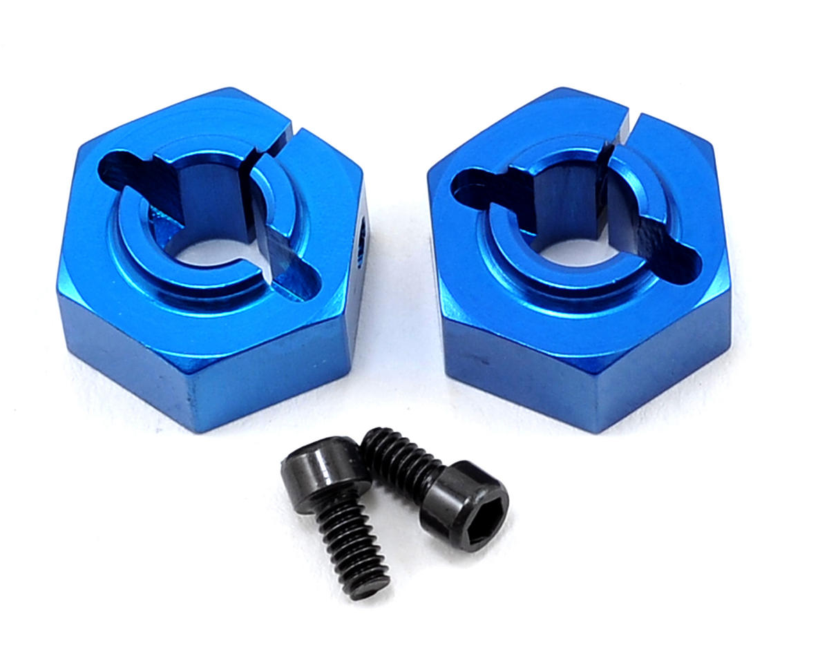 Team Associated 12mm Aluminum Rear Clamping Wheel Hex Set (Blue) (2)