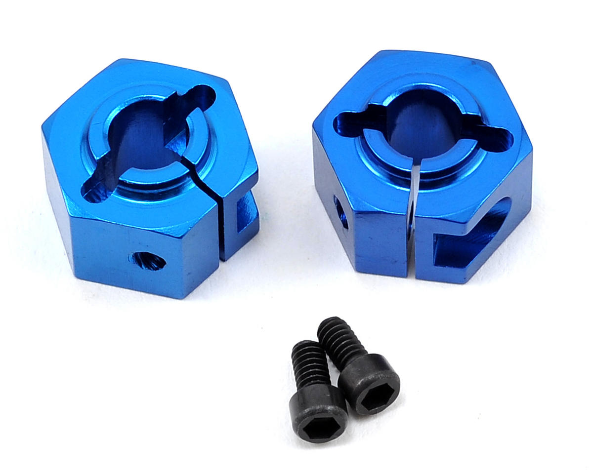 Team Associated SC10.3 12mm Aluminum Clamping Wheel Hex Set (Blue) (2)