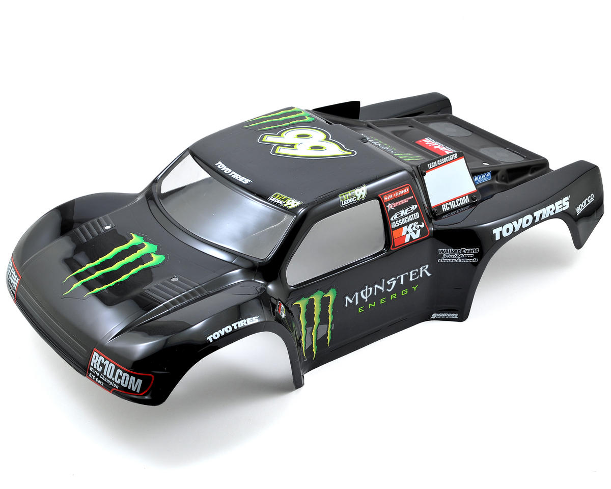 "Team Associated ""Monster Energy Contender"" Short Course Truck Body (SC10)"