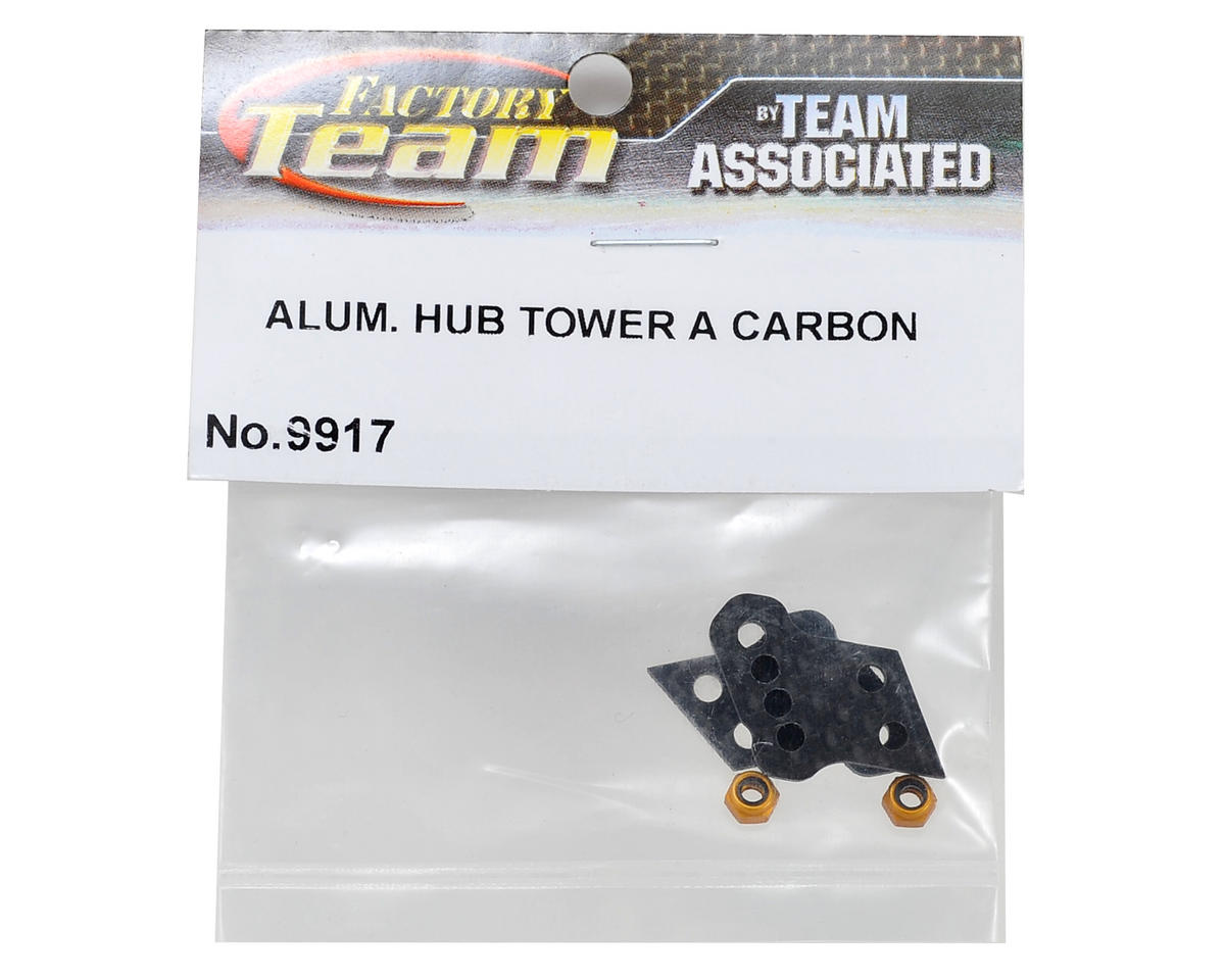 Team Associated Factory Team Aluminum Hub Carbon A Tower Set (2) (Big Bore)