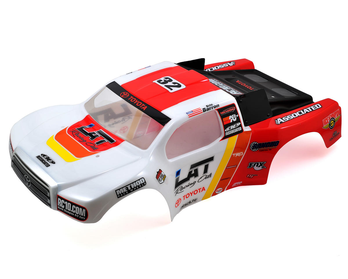 "Team Associated ""LAT Racing Oils/Toyota Racing"" Short Course Truck Body (SC10)"