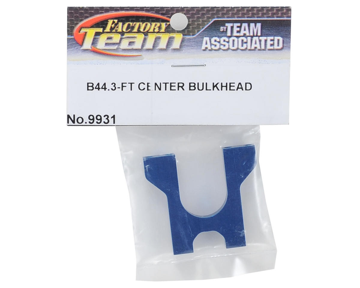 Team Associated Aluminum Factory Team Center Bulkhead (Blue)