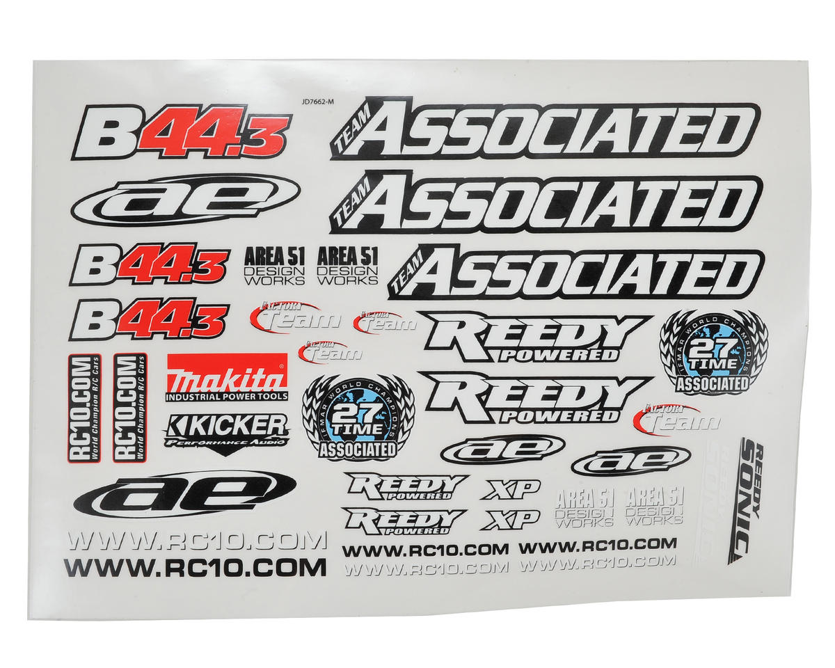 Team Associated B44.3 Decal Sheet