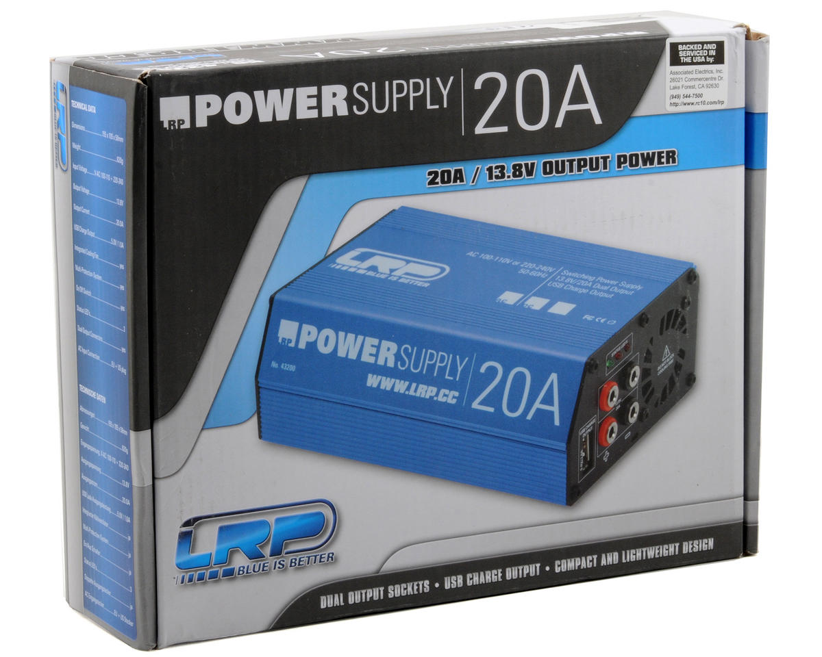 Lrp Competition Power Supply 138v 20a Lrp43200 Cars Trucks 10a Amain Hobbies