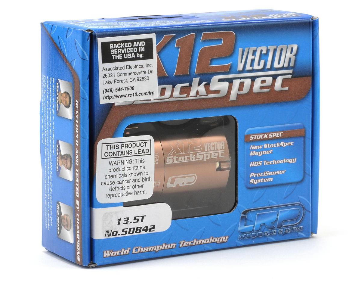LRP Vector X-12 StockSpec Brushless Motor (13.5T)