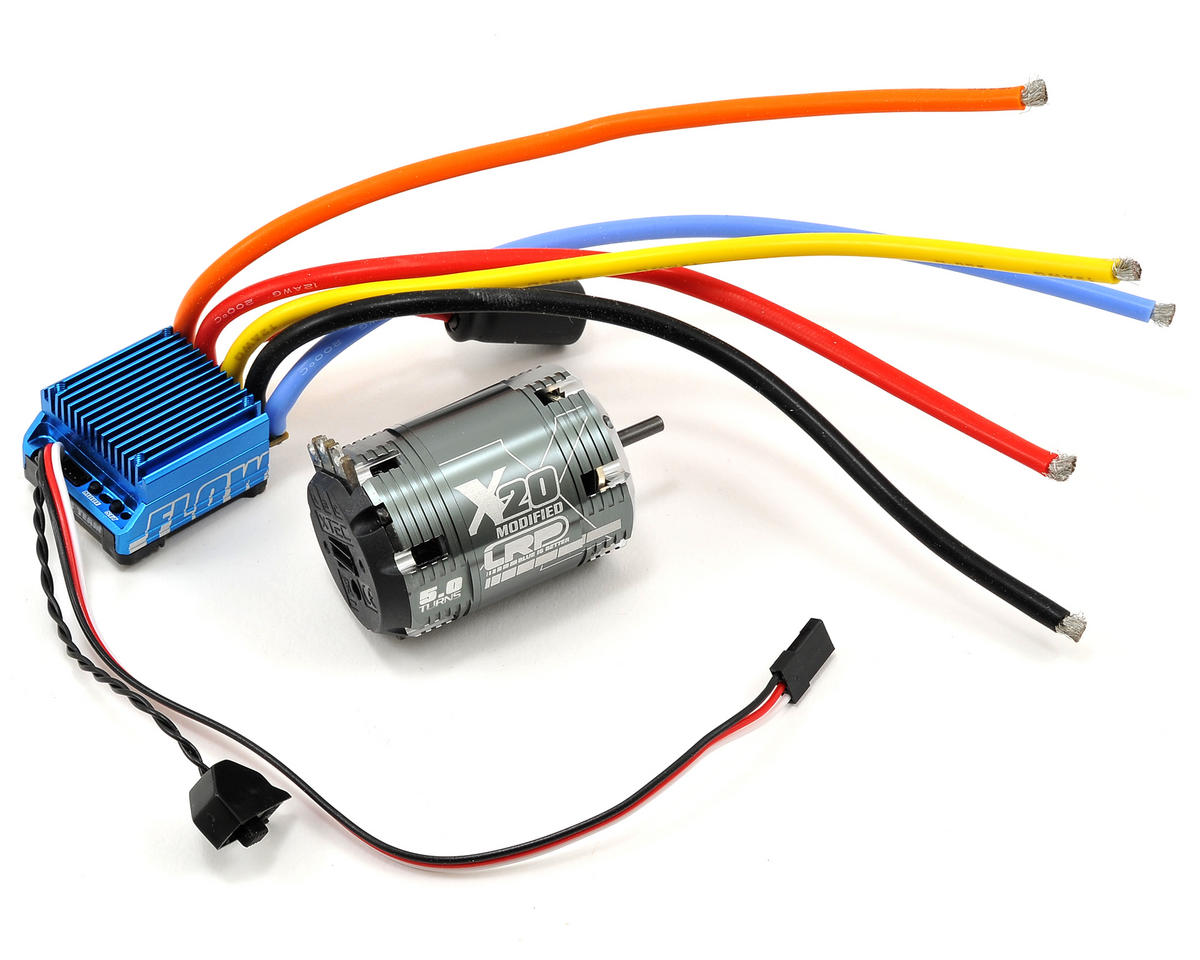 "LRP ""Flow"" WorksTeam ESC & Vector X20 Modified Brushless Motor Combo (5.0T)"