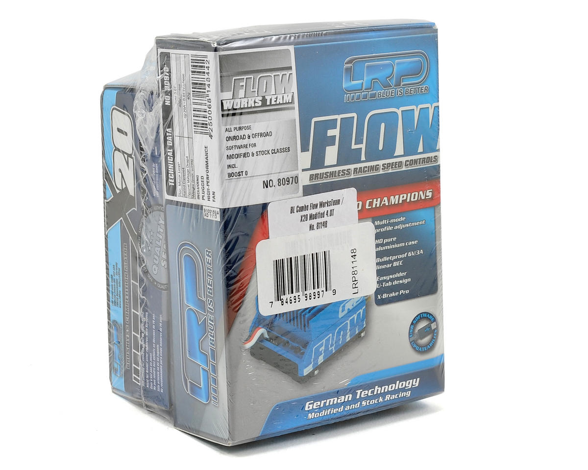 "LRP ""Flow"" WorksTeam ESC & Vector X20 Modified Brushless Motor Combo (4.0T)"