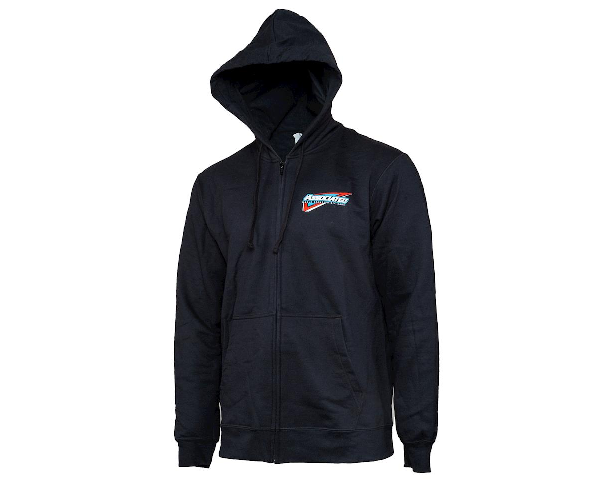 Team Associated Tri Zip Hoodie (Black) (2XL)