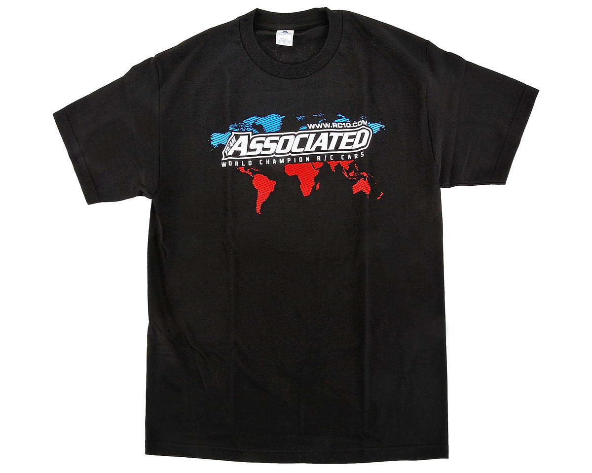 Team Associated International T-Shirt (Black) (2XL)