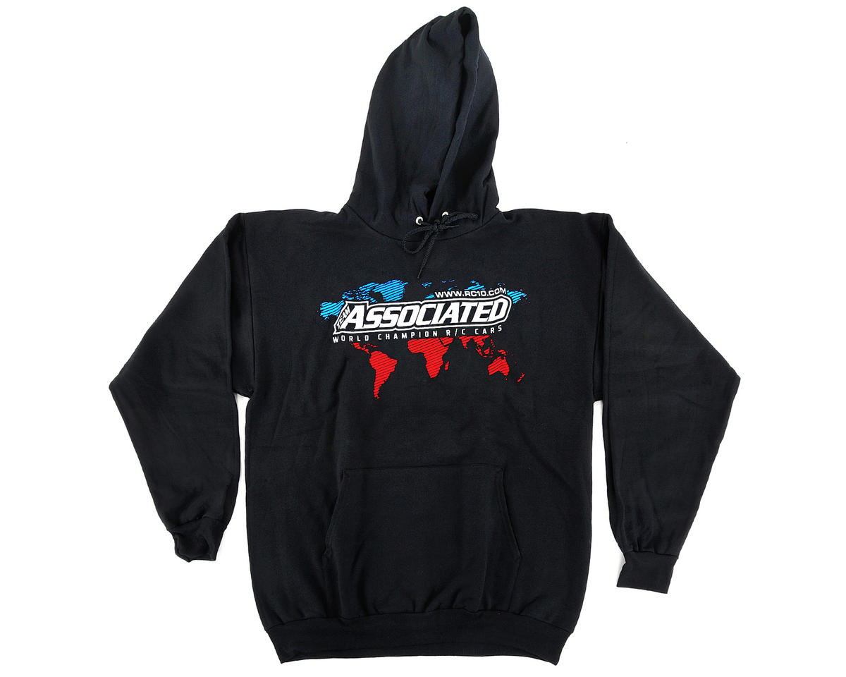 Team Associated International Hoodie (Black) (L)