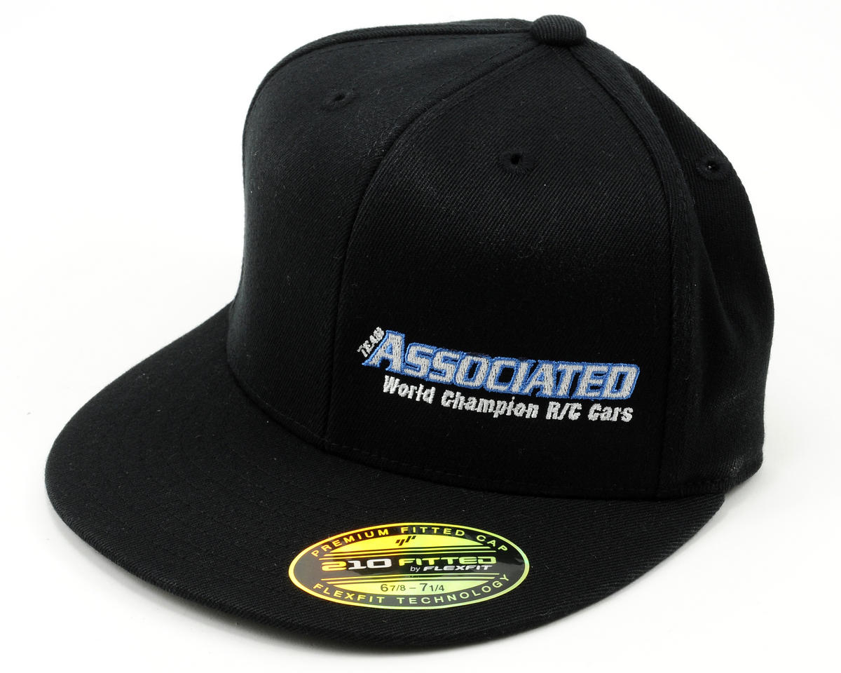 "Team Associated 11 ""Flatbill"" FlexFit Cap (Black) (S/M)"