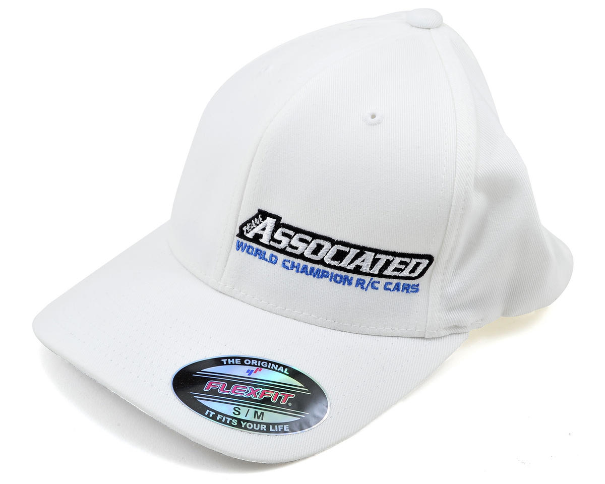 "Team Associated 2012 ""Curved Bill"" FlexFit Cap (White)"