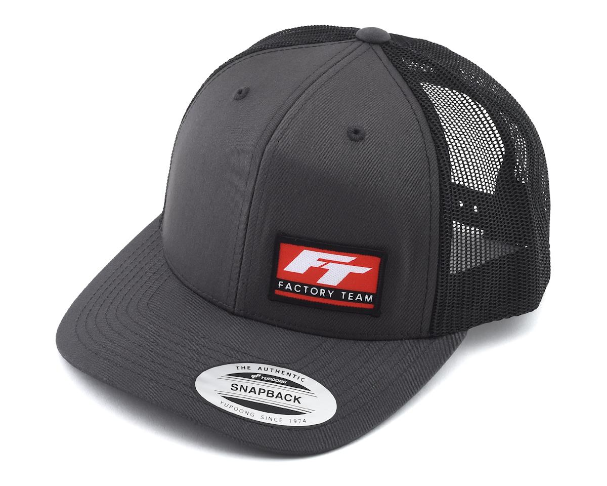 "Team Associated Factory Team Logo ""Curved Bill"" Trucker Hat (Black/Grey) (One Size Fits Most)"
