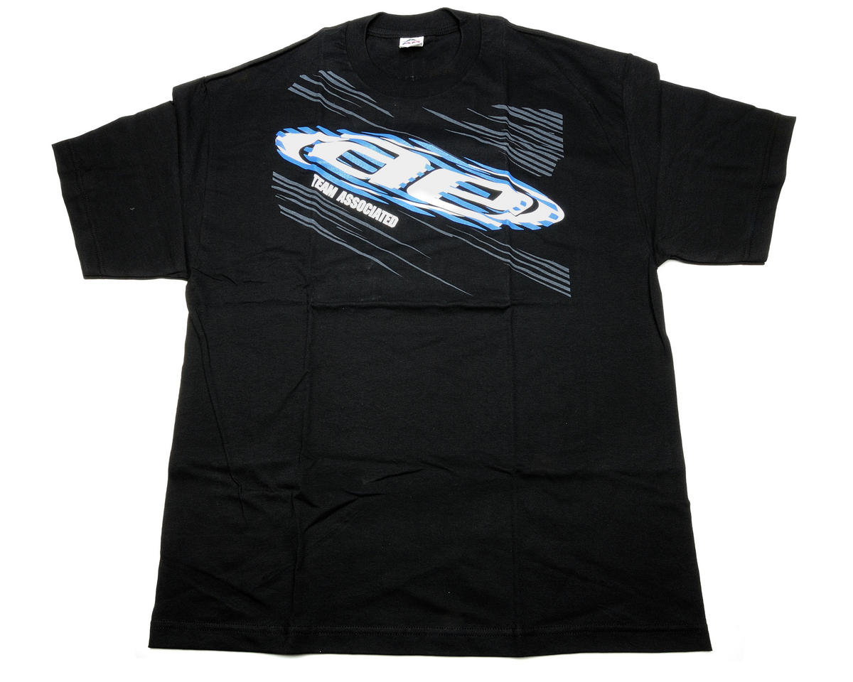 Team Associated Black Vertigo T-Shirt (3X-Large)