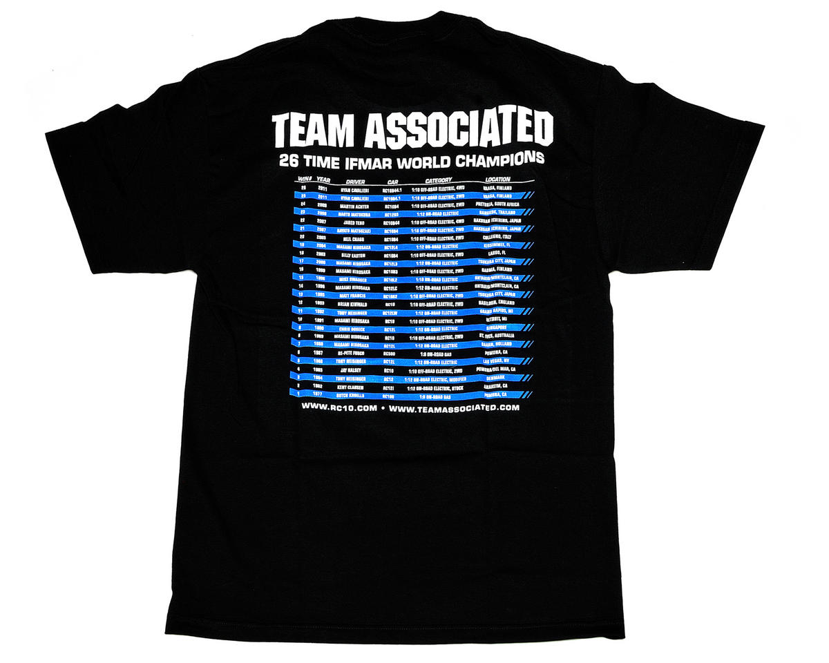 Team Associated Black 26 Time World Champion Shirt (Medium)