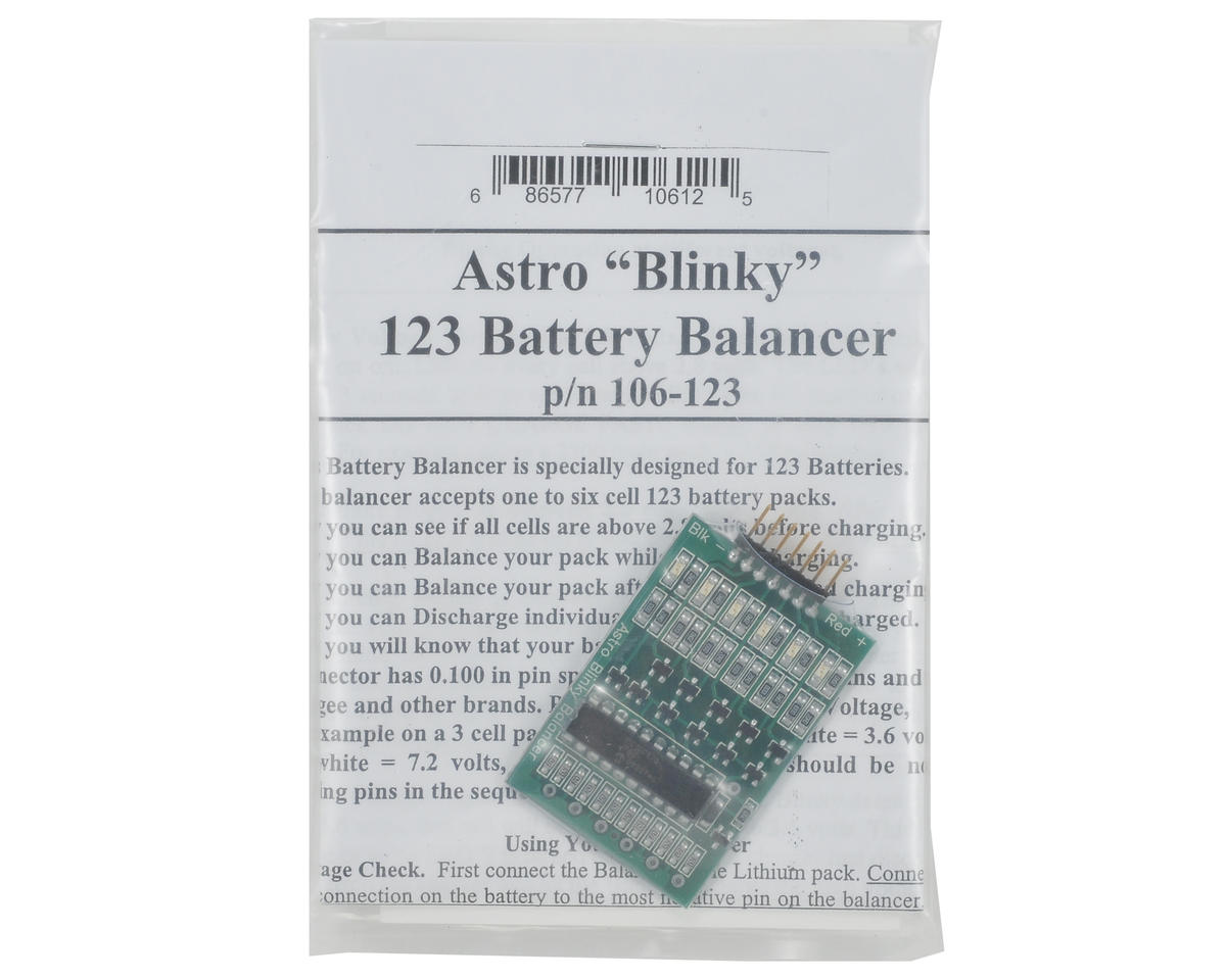 """Astro Flight """"Astro 123 Blinky"""" Lithium Battery Balancer (A123)"""