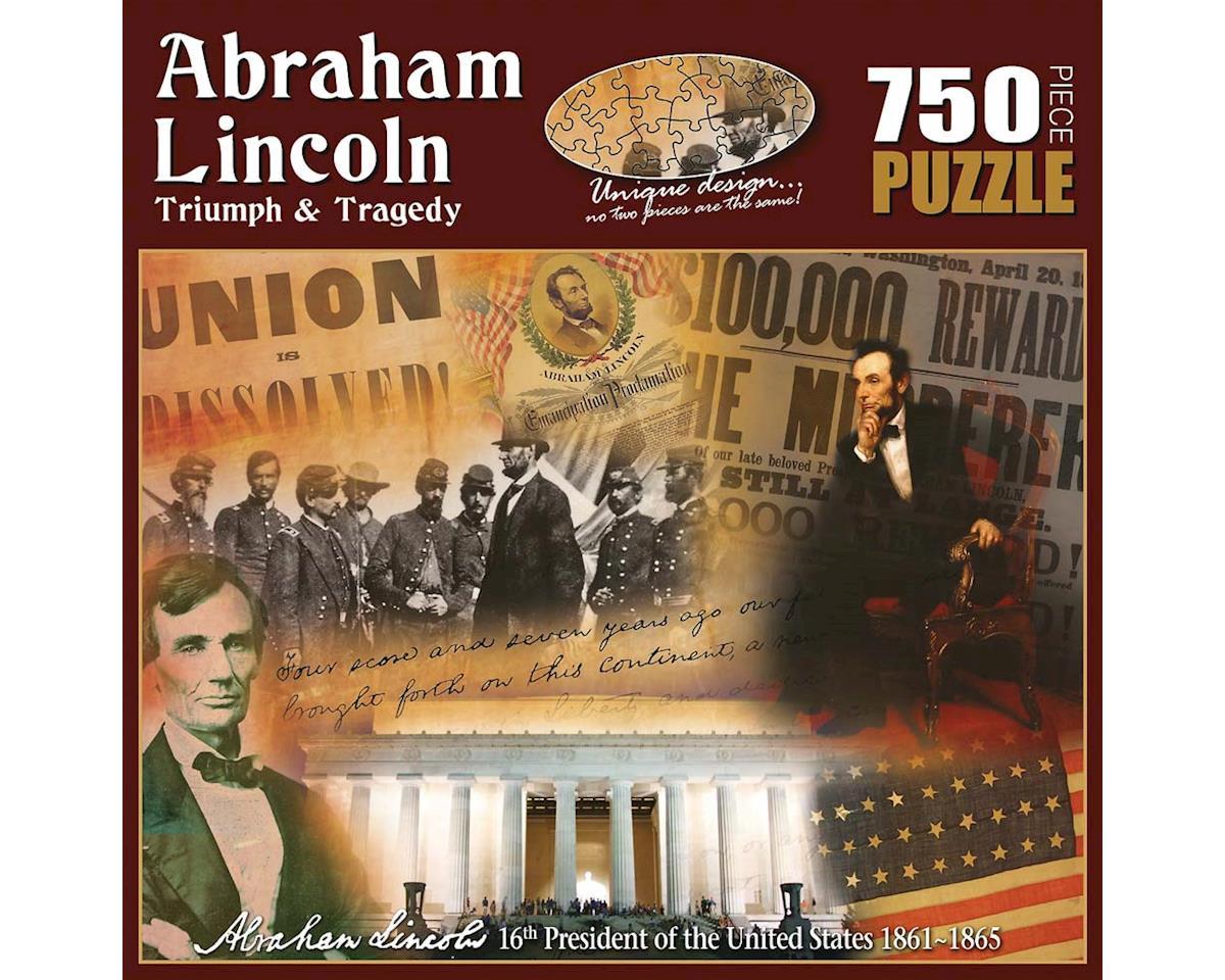 Americana Souvenirs Historic Collage: Abraham Lincoln Triumph & Traged