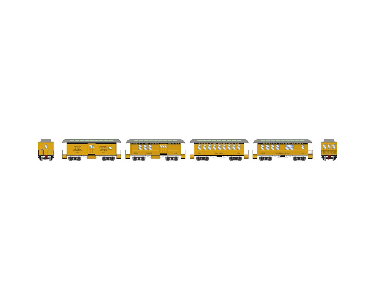 Athearn N 34' Old Time Overton Pass Set, D&RGW (4)