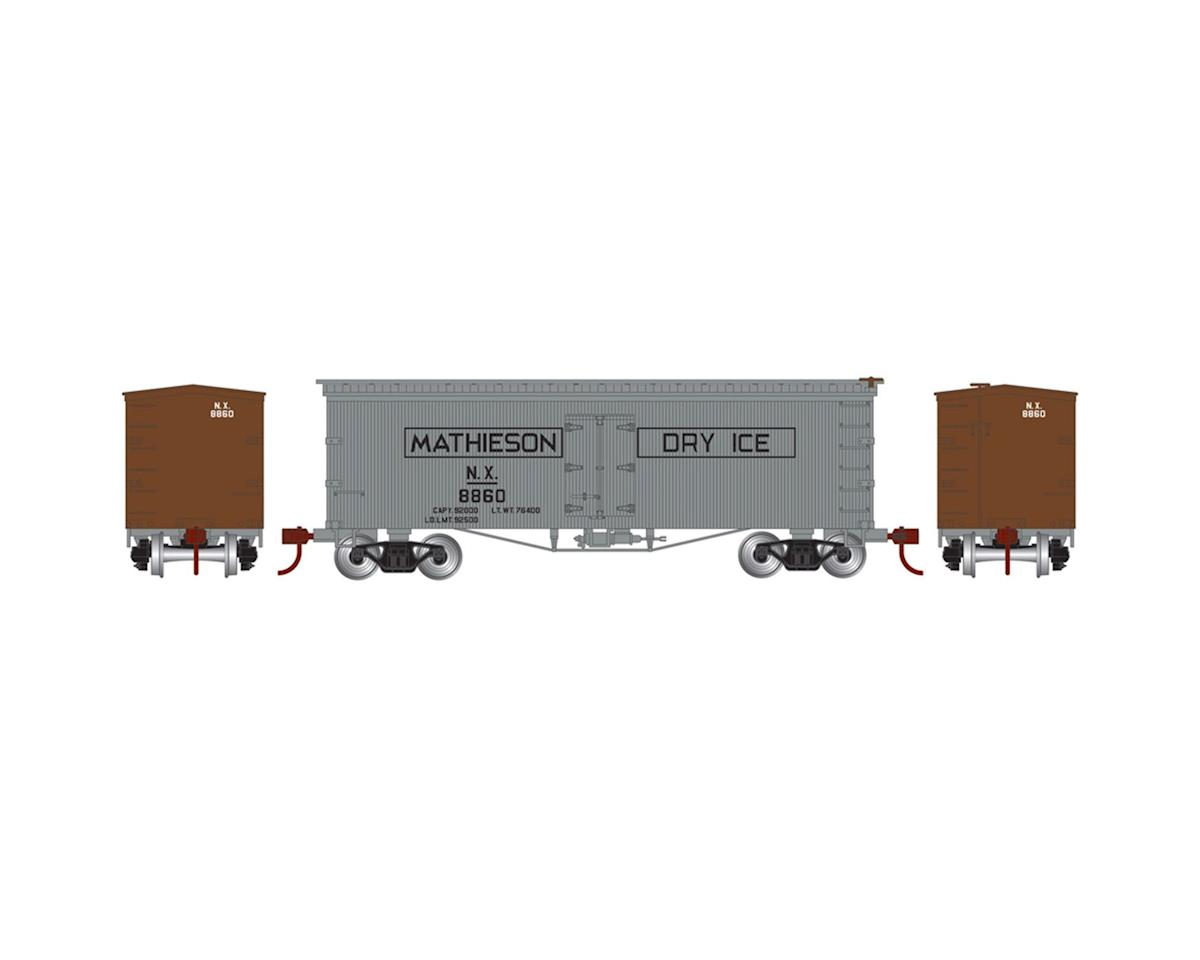 Athearn N 36' Old Time Wood Reefer,Mathieson Dry Ice #8860