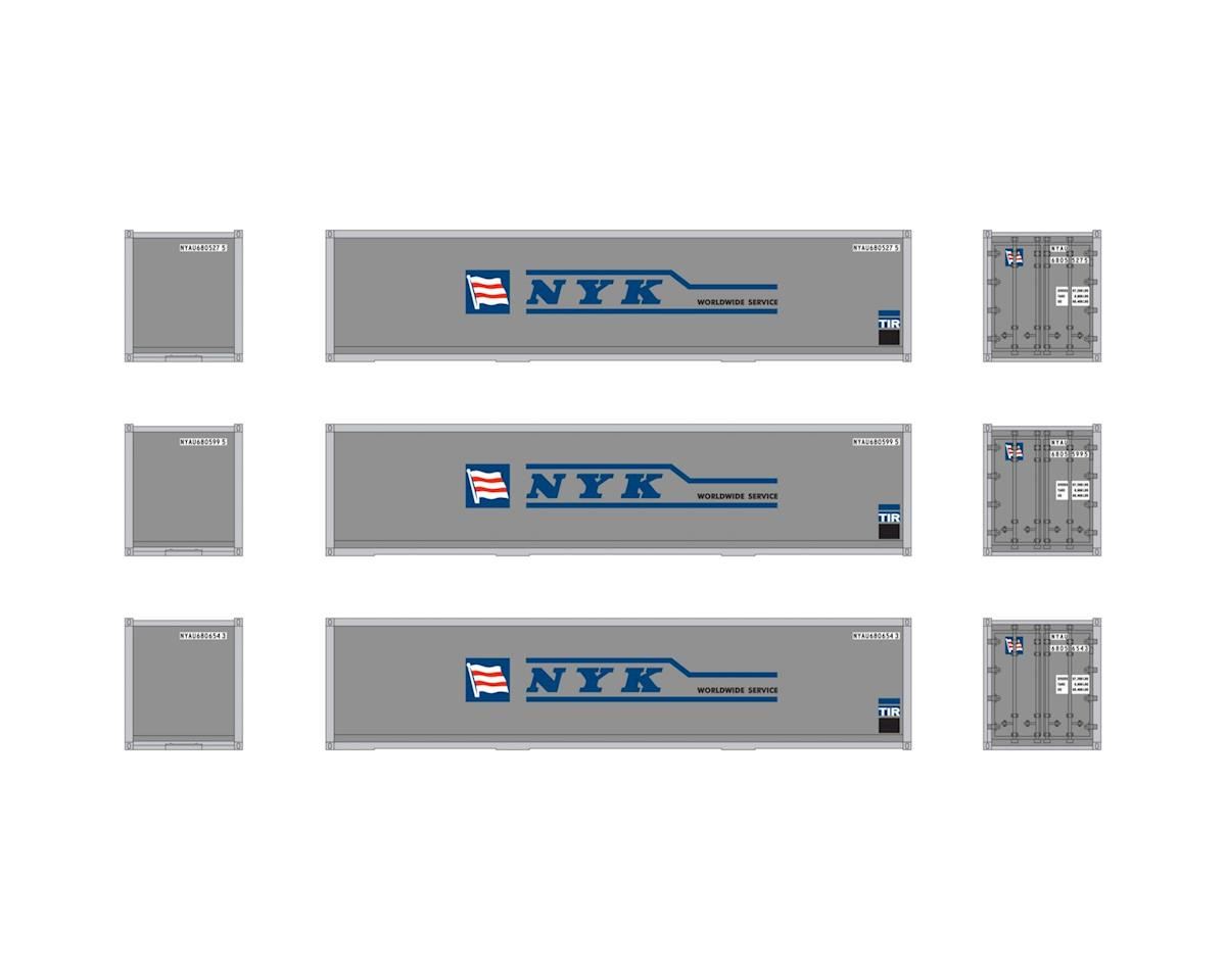 Athearn HO RTR 40' Smooth Containers, NYK (3)