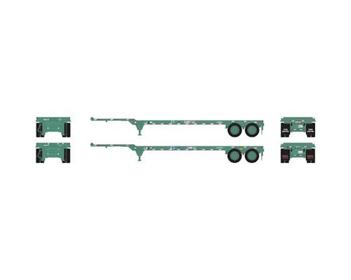 Athearn HO RTR 40' Chassis, China Shipping (2)