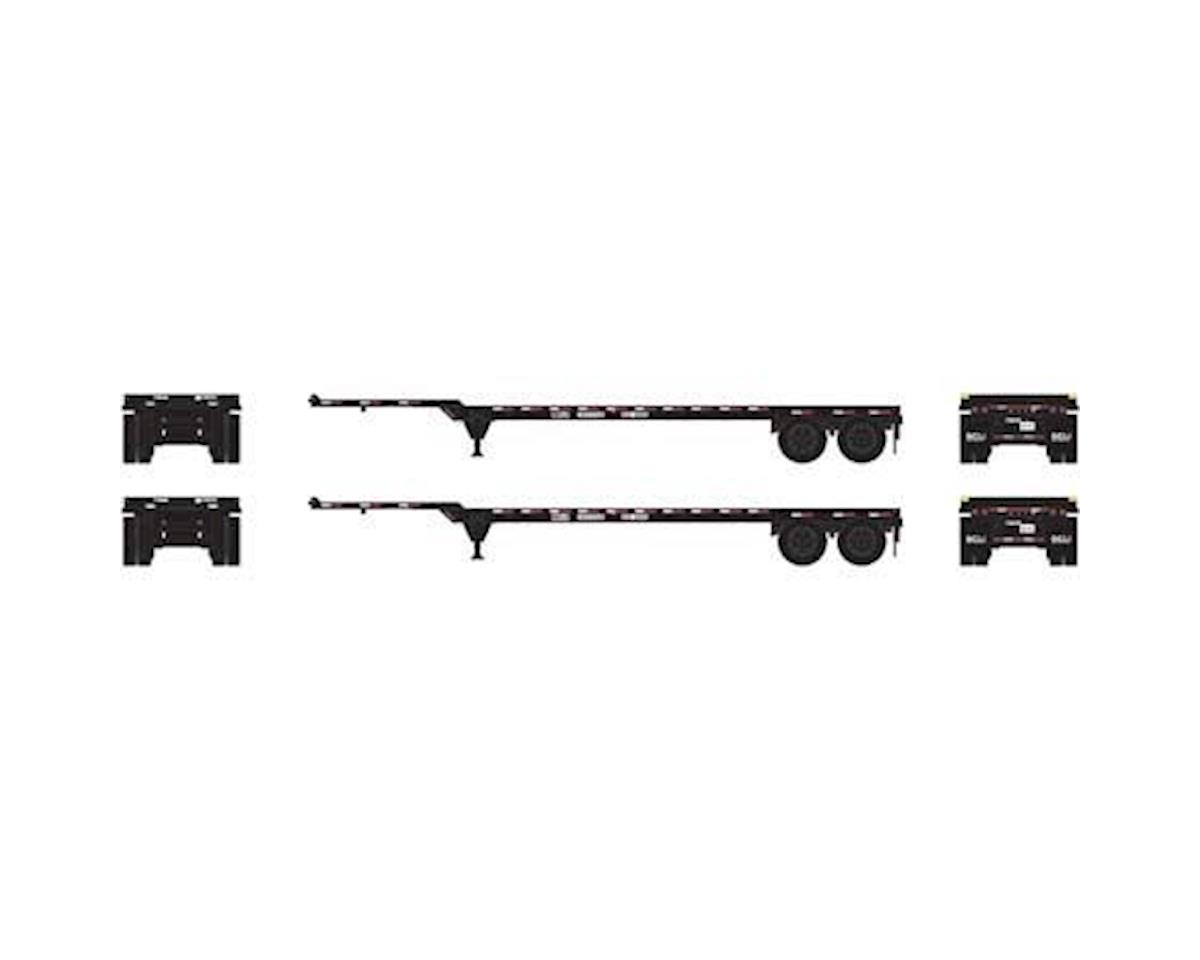 Athearn HO RTR 40' Chassis, Direct Chassis Link (2)