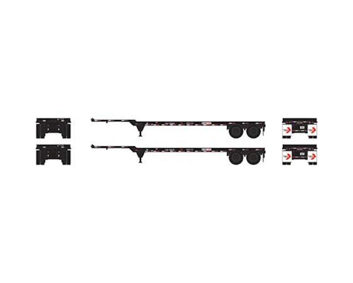 Athearn HO RTR 40' Chassis, Flexi-Van (2)
