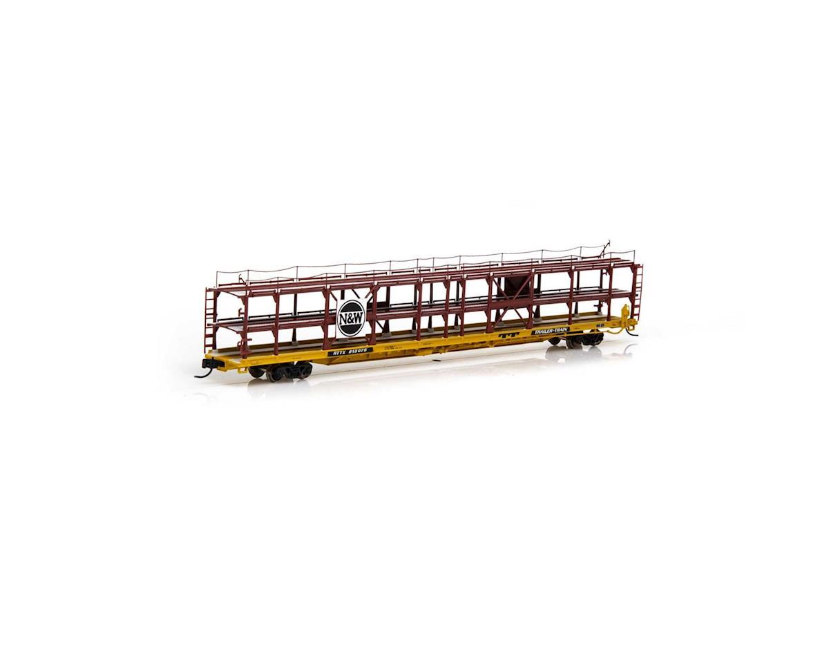 Athearn N F89-F Tri-Level Auto Rack, N&W/RTTX #913075